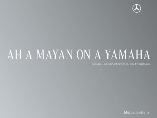Mercedes Print Ad -  Palindrome, Mayan