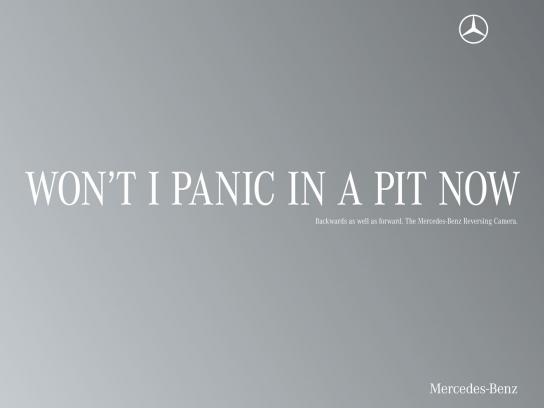 Mercedes Print Ad -  Palindrome, Panic