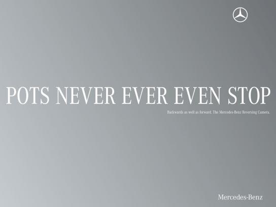 Mercedes Print Ad -  Palindrome, Pots