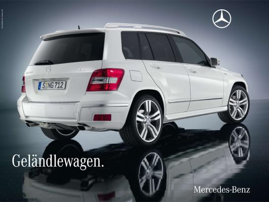Mercedes Outdoor Ad -  GLK model billboard