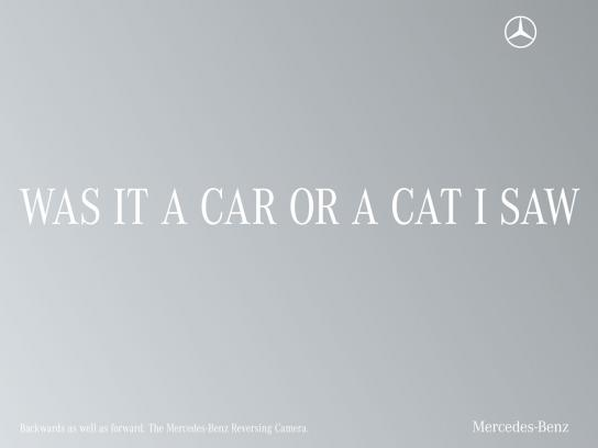 Mercedes Print Ad -  Palindrome, Cat