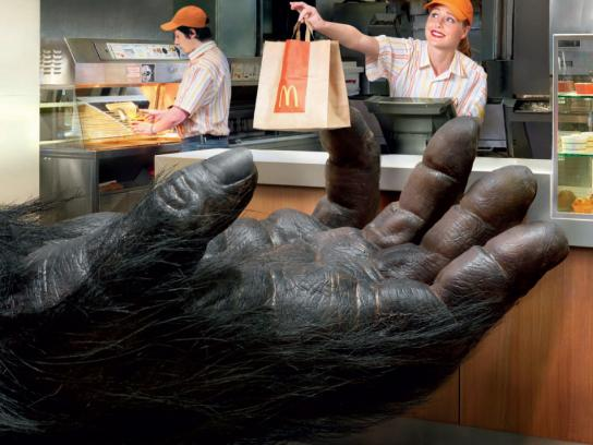 McDonald's Print Ad -  Come as you are, King Kong