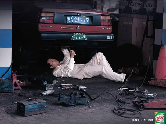 Ariel Print Ad -  Mechanic