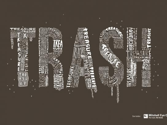 Mitchell Eye Centre Print Ad -  Trash