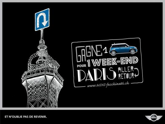 Mini Print Ad -  Weekend trips, Paris