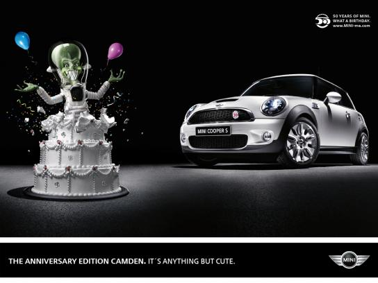 Mini Print Ad -  Alien