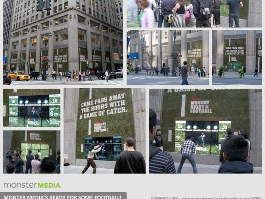 ESPN Ambient Ad -  Monster Storefront, ESPN Street-Level Interactive Game