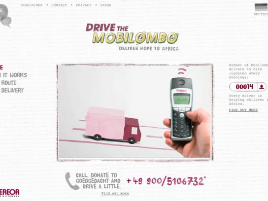 Misereor Digital Ad -  Drive the Mobilombo, Deliver hope to Africa