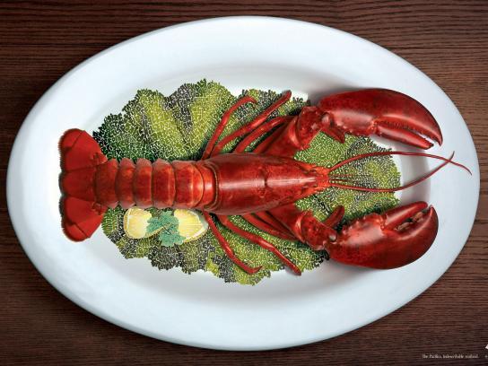 Mandarin Oriental Print Ad -  Lobster