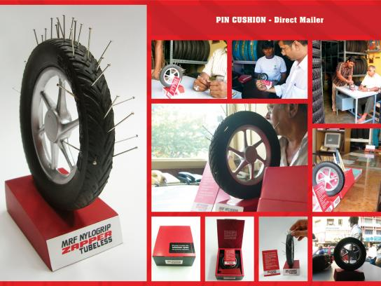 MRF Zapper Tubeless Direct Ad -  Pin cushion