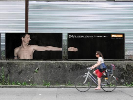 Multiple Sclerosis Society Outdoor Ad -  Pain