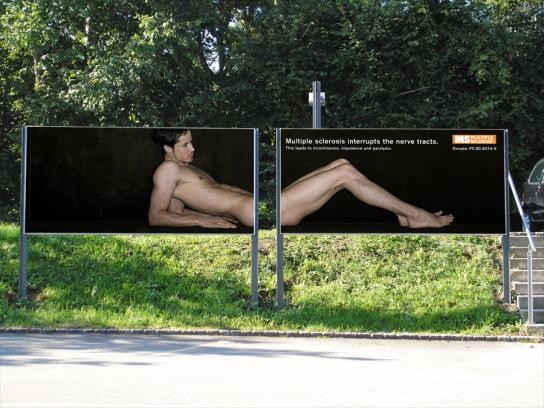 Multiple Sclerosis Society Outdoor Ad -  Impotence