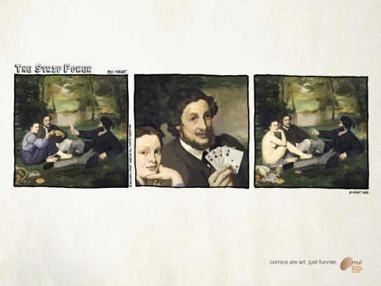 Museo Nazionale del Fumetto Print Ad -  The strip-poker