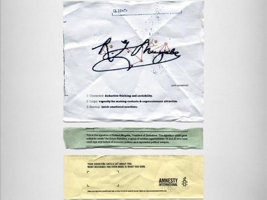 Amnesty International Print Ad -  Mugabe