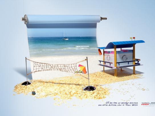 Maclee Express Print Ad -  Miami Beach, 1