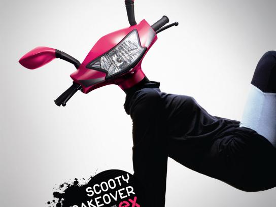TVS Print Ad -  Scooty makeover, 1