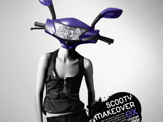 TVS Print Ad -  Scooty makeover, 2
