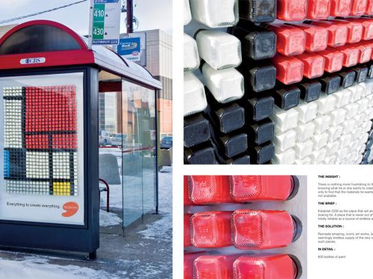 Deserres Ambient Ad -  Mondrian