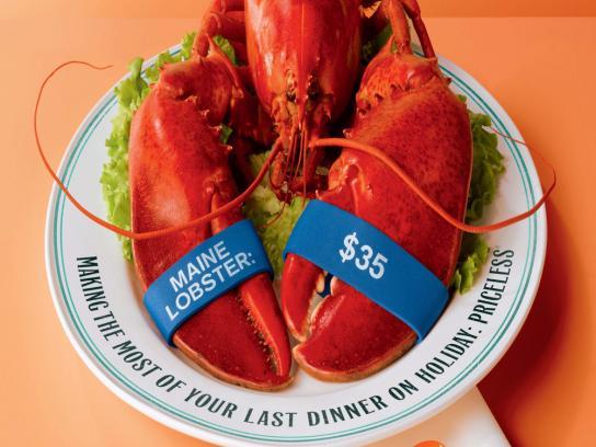 MasterCard Print Ad -  Lobster