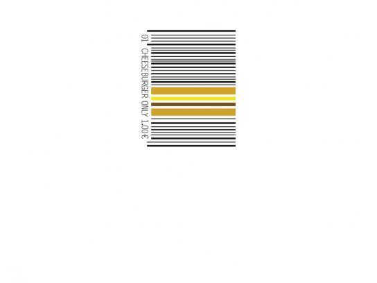 McDonald's Print Ad -  Barcode Cheeseburger