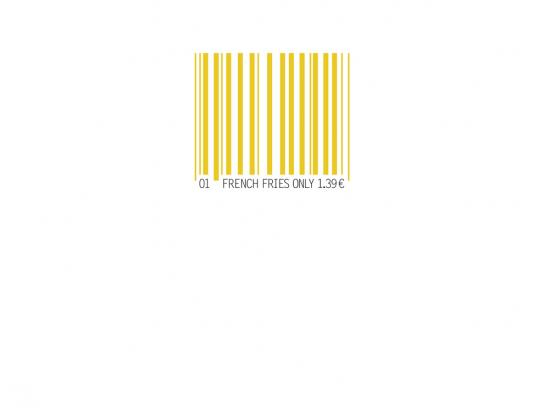 McDonald's Print Ad -  Barcode French Fries