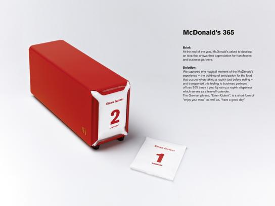 McDonald's Direct Ad -  Calendar