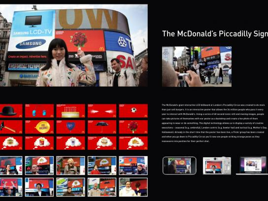McDonald's Outdoor Ad -  Piccadilly signs