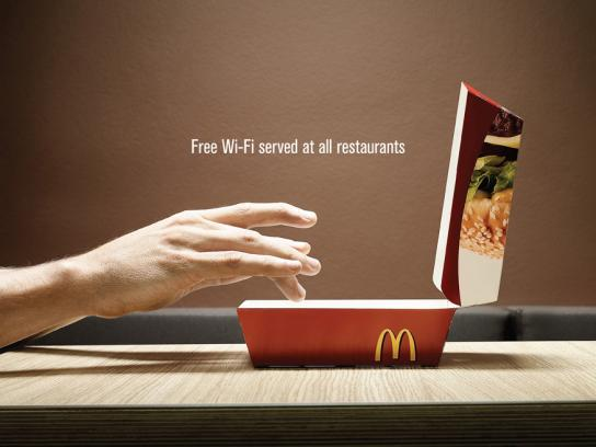 McDonald's Print Ad -  Wi-Fi