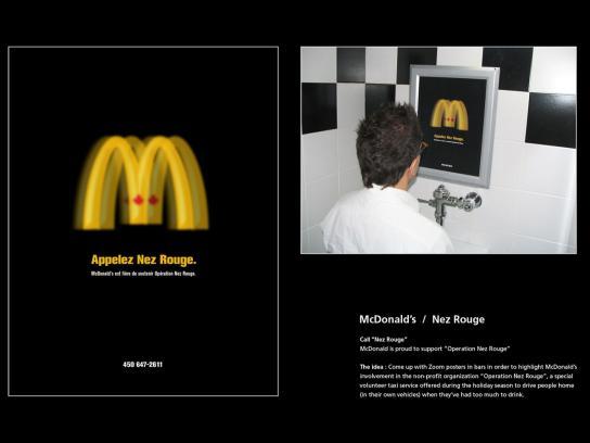 McDonald's Ambient Ad -  Nez rouge