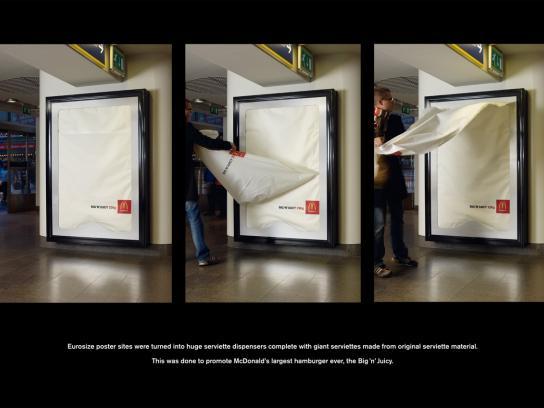 McDonald's Ambient Ad -  Metro