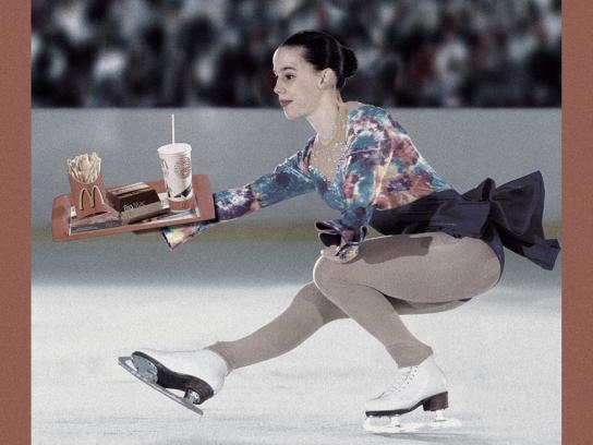 McDonald's Print Ad -  Ice skater