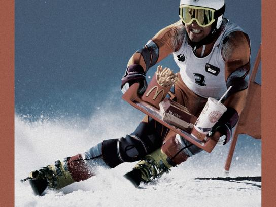 McDonald's Print Ad -  Skier