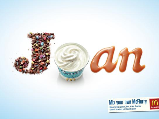 McDonald's Print Ad -  Joan