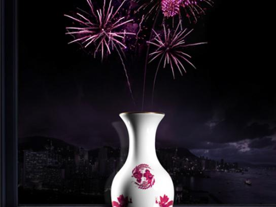 Meissen Porcelain Print Ad -  Purple