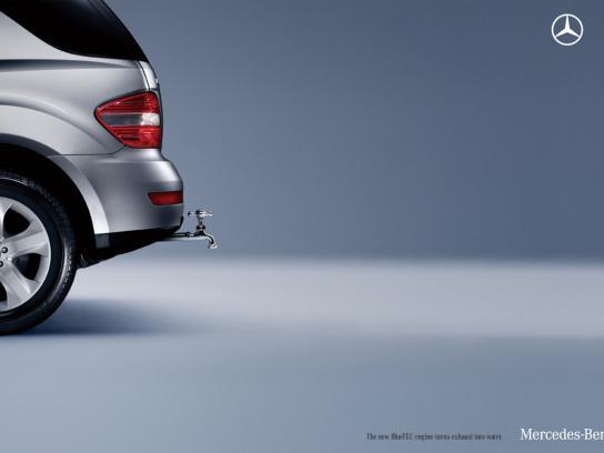 Mercedes Print Ad -  Faucet