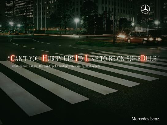 Mercedes Print Ad -  Hidden danger, Child