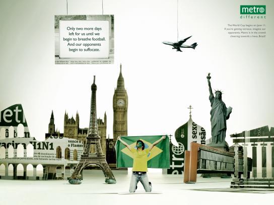 Metro Print Ad -  World Cup