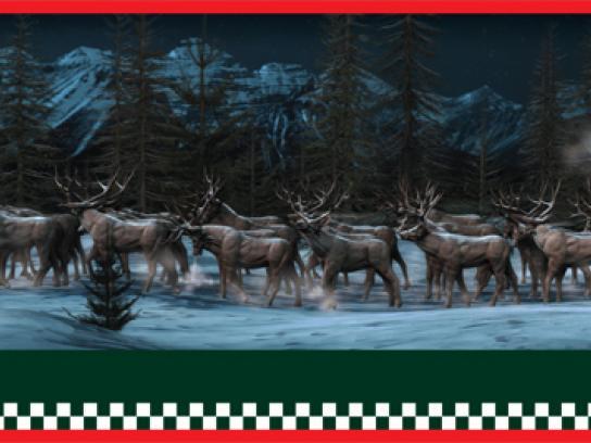 Mini Print Ad -  Reindeer