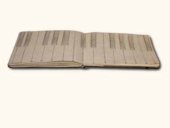 Moleskine Print Ad -  Piano