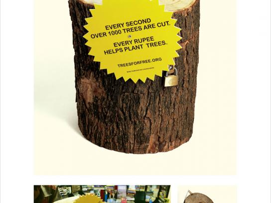 treesforfree Ambient Ad -  Money collection trunk