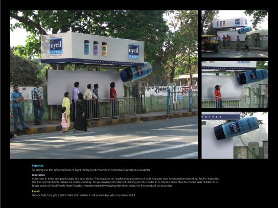 Nycil Ambient Ad -  Cooling bus stop