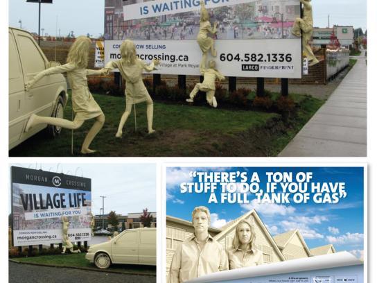 Morgan Crossing Ambient Ad -  Escape from Boringville
