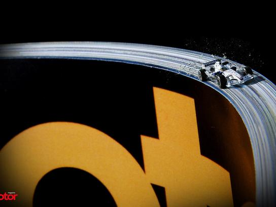 Motor Magazine Print Ad -  Speed track, 2