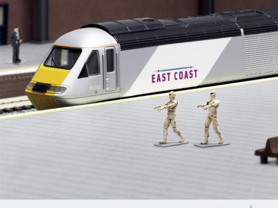 East Coast Trains Print Ad -  Miniature Prices, Mummies