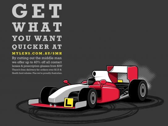 Mylens.com.au Print Ad -  F1