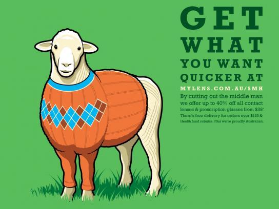 Mylens.com.au Print Ad -  Sheep