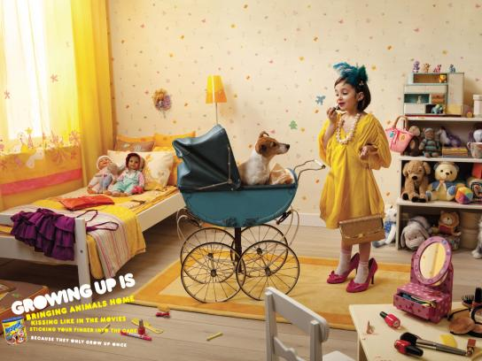 Nesquik Print Ad -  Growing up is..., 2