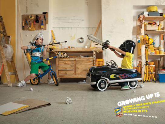 Nesquik Print Ad -  Growing up is..., 3