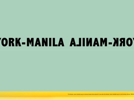 Western Union Print Ad -  New York - Manila