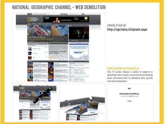 National Geographic Digital Ad -  Web demolition